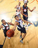 Wayne Blackshear at the NBPA Top100 camp June 17, 2010 at the John Paul Jones Arena in Charlottesville, VA. Visit www.nbpatop100.blogspot.com for more photos. (Photo © Andrew Shurtleff)