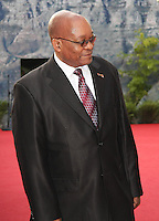South African President Jacob Zuma on the red carpet prior to the FIFA Final Draw for the FIFA World Cup 2010 South Africa held at the Cape Town International Convention Centre (CTICC) on December 4, 2009.