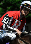 09 August 1: Jockey Julien Leparoux on Jim Dandy Stakes day at Saratoga Race Track in Saratoga Springs, New York.