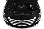 Car Stock 2020 Cadillac Escalade-ESV Premium-Luxury 5 Door SUV Engine  high angle detail view