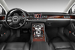 Straight dashboard view of a 2010 Audi A8 4 Door Sedan 4WD