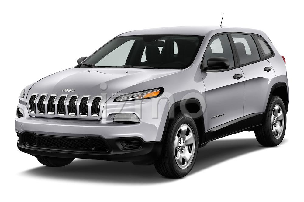 2014 JEEP Cherokee Longitude 4 Door SUV Angular Front stock photos of front three quarter view