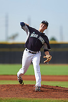 Seattle Mariners pitcher Cody Mobley (56) during an instructional league intrasquad game on October 6, 2015 at the Peoria Sports Complex in Peoria, Arizona.  (Mike Janes/Four Seam Images)