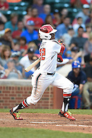 Nicholas Shumpert (22) of Highlands Ranch High School in Lone Tree, Colorado during the Under Armour All-American Game on August 16, 2014 at Wrigley Field in Chicago, Illinois.  (Mike Janes/Four Seam Images)