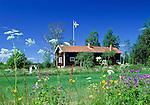 Sweden, Province Dalarna, Swedish wooden house | Schweden, Provinz Dalarna, Schwedisches Wohnhaus