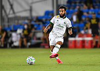 LAKE BUENA VISTA, FL - AUGUST 01: Eryk Williamson #30 of the Portland Timbers passes the ball during a game between Portland Timbers and New York City FC at ESPN Wide World of Sports on August 01, 2020 in Lake Buena Vista, Florida.