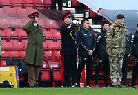 bugle player plays the last post during Charlton Athletic vs Plymouth Argyle, Emirates FA Cup Football at The Valley on 7th November 2020