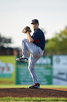 Lowell Spinners starting pitcher Durin O'Linger (51) during a game against the Batavia Muckdogs on July 11, 2017 at Dwyer Stadium in Batavia, New York.  Lowell defeated Batavia 5-2.  (Mike Janes/Four Seam Images)