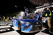 Monster Energy NASCAR Cup Series<br /> Go Bowling 400<br /> Kansas Speedway, Kansas City, KS USA<br /> Saturday 13 May 2017<br /> Martin Truex Jr, Furniture Row Racing, Auto-Owners Insurance Toyota Camry celebration<br /> World Copyright: Barry Cantrell<br /> LAT Images<br /> ref: Digital Image 17KAN1bc4842
