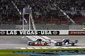NASCAR Camping World Truck Series<br /> Las Vegas 350<br /> Las Vegas Motor Speedway, Las Vegas, NV USA<br /> Saturday 30 September 2017<br /> Christopher Bell, DC Solar Toyota Tundra wins<br /> World Copyright: Barry Cantrell<br /> LAT Images