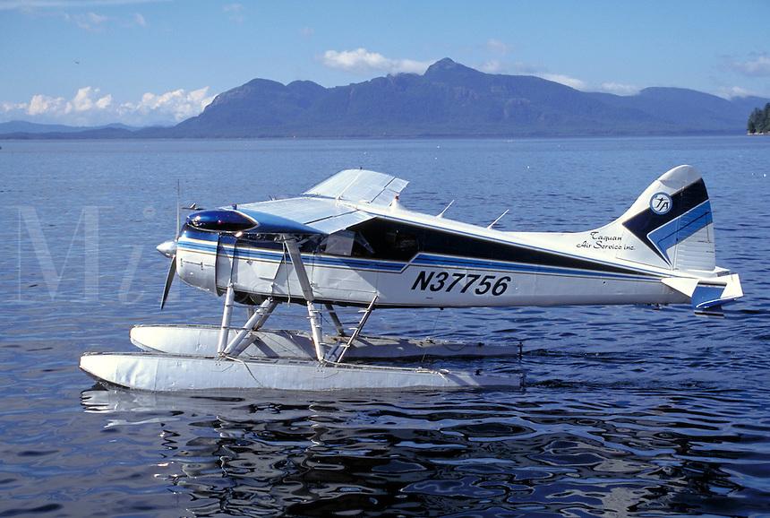 Seaplane used fo transport to the mainland, Metlakatla, Alaska.