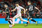 Spain's Marco Asensio (l) and Argentina's Giovani Lo Celso during international friendly match. March 27,2018.(ALTERPHOTOS/Acero)
