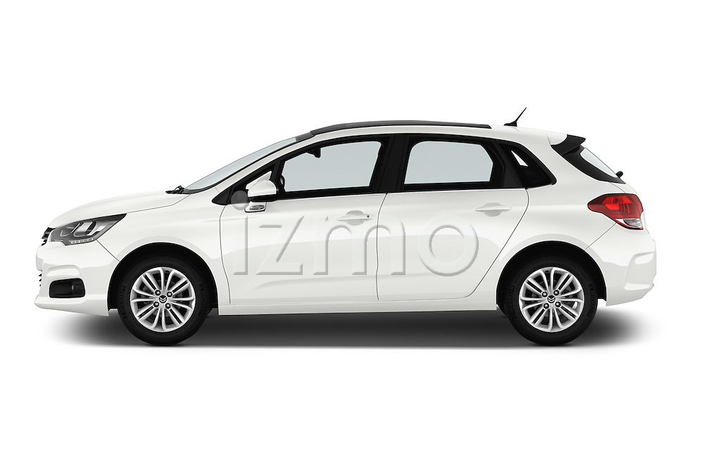 Car Driver side profile view of a 2016 Citroen C4 Feel 5 Door Hatchback Side View