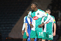 Freddie Ladapo (Plymouth Argyle)  during the Sky Bet League 1 match between Rochdale and Plymouth Argyle at Spotland Stadium, Rochdale, England on 15 December 2018. Photo by James  Gill / PRiME Media Images.