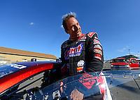 Jul, 20, 2012; Morrison, CO, USA: NHRA pro stock driver Greg Anderson during qualifying for the Mile High Nationals at Bandimere Speedway. Mandatory Credit: Mark J. Rebilas-US PRESSWIRE