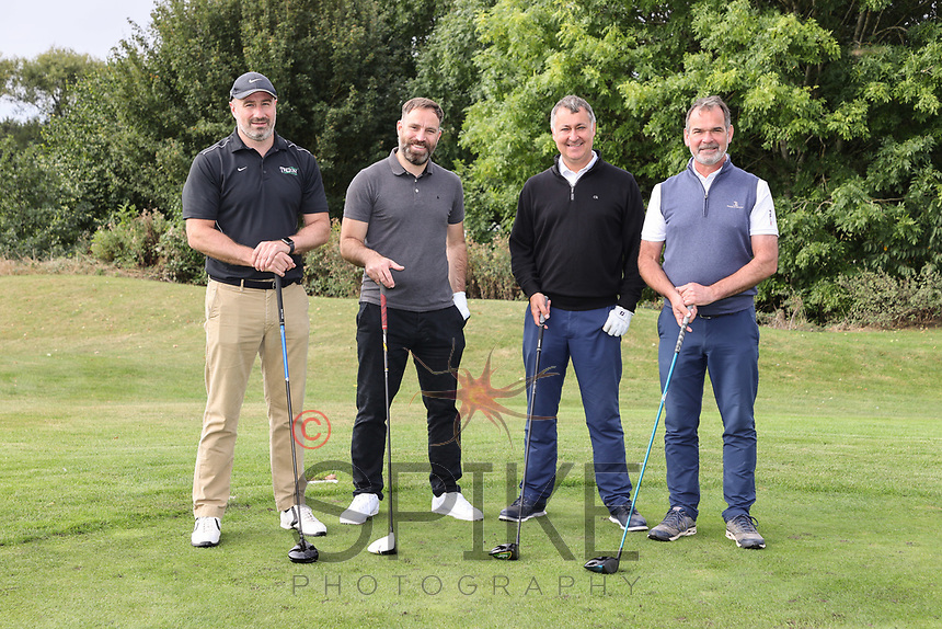 Pictured from left are the Rogers Leask team, David Cleverley, Jon Howard, Lawrence Pacey and James Marshall
