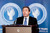 """*** NO FEE PIC***.16/12/2011.Mark Kelly Director Irish Council for Civil Liberties (ICCL),.during the """"The Future of Human Rights Global Techniques Securing Local Impact"""" international seminar at The Westbury Hotel, Dublin..Photo: Gareth Chaney Collins"""