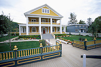 Dawson City, YT, Yukon Territory, Canada - National Historic Site, NHS, Commissioner's Residence, Reconstructed and Restored House, Summer