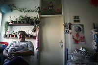 "SERBIA, Belgrade, Jan. 18, 2007..Dusanka Pjevalica (60), refugee from Croatia, Knin, sits in her room in a refugee camp ""Krnjaca"" near Belgrade..© Djordje Jovanovic /EST&OST"