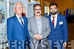 Cllr Sam Locke, Shahadat Hussein and Amwar Mosse atending the Islamic Exhibition in the Brandon Hotel on Saturday