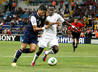 Ghana's Joseph Attamah (R) and USA's Mario Rodriguez (L) during their FIFA U-20 World Cup Turkey 2013 Group Stage Group A soccer match Ghana betwen USA at the Kadir Has stadium in Kayseri on June 27, 2013. Photo by Aykut AKICI/isiphotos.com