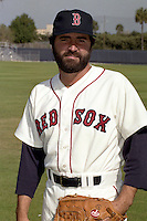 Boston Red Sox Jeff Reardon during spring training circa 1990 at Chain of Lakes Park in Winter Haven, Florida.  (MJA/Four Seam Images)