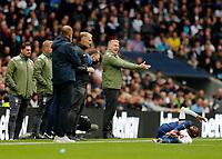 3rd October 2021; Tottenham Hotspur Stadium. Tottenham, London, England; Premier League football, Tottenham versus Aston Villa: Aston Villa Manager Dean Smith shouting from the touchline