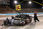 NASCAR Camping World Truck Series <br /> Lucas Oil 150<br /> Phoenix Raceway, Avondale, AZ USA<br /> Friday 10 November 2017<br /> Noah Gragson, Switch Toyota Tundra pit stop<br /> World Copyright: Matthew T. Thacker<br /> LAT Images