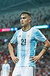Paulo Dybala of Argentina during the International Test match between Argentina and Singapore at National Stadium on June 13, 2017 in Singapore. Photo by Marcio Rodrigo Machado / Power Sport Images