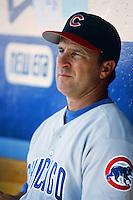 Chicago Cubs Manager Jim Riggelman before a 1999 Major League Baseball season game against the Los Angeles Dodgers in Los Angeles, California. (Larry Goren/Four Seam Images)