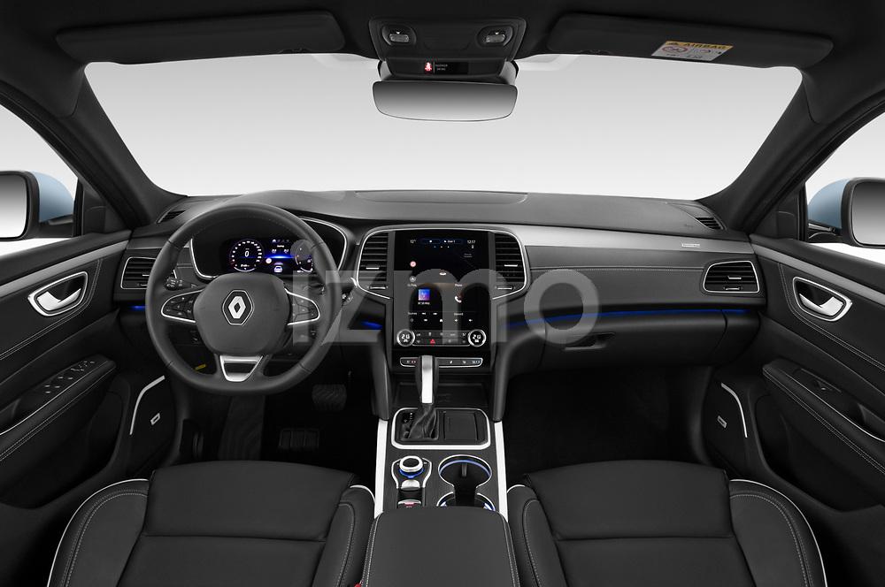 Stock photo of straight dashboard view of 2021 Renault Talisman Intens 4 Door Sedan Dashboard
