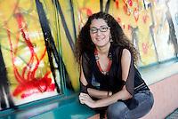 La scrittrice Melania Mazzucco ritratta a Roma, 15 settembre 2008.<br /> Italian writer Melania Mazzucco portrayed in Rome, 15 September 2008.<br /> UPDATE IMAGES PRESS/Riccardo De Luca