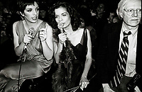 Minelli Jagger Warhol6876.JPG<br /> New York, NY 1978 FILE PHOTO<br /> Liza Minelli Bianca Jagger Andy Warhol<br /> Studio 54<br /> Digital photo by Adam Scull-PHOTOlink.net<br /> ONE TIME REPRODUCTION RIGHTS ONLY<br /> NO WEBSITE USE WITHOUT AGREEMENT<br /> 718-487-4334-OFFICE  718-374-3733-FAX