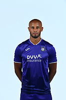 30th July 2020, Turbize, Belgium;   Vincent Kompany defender of Anderlecht pictured during the team photo shoot of RSC Anderlecht prior the Jupiler Pro league football season 2020 - 2021 at Tubize training Grounds.