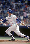 UNDATED:  Dale Murphy #3 of the Atlanta Braves heads to first base during a game circa 1976-90.  (Photo by Rich Pilling)
