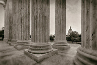 United States Capitol Building from the Supreme Court Washington DC Black and White Photography Washington DC Art - - Framed Prints - Wall Murals - Metal Prints - Aluminum Prints - Canvas Prints - Fine Art Prints Washington DC Landmarks Monuments Architecture