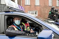 Professor & intensivist Geert Meyfroidt is race doctor 1 today<br /> <br /> 76th Omloop Het Nieuwsblad 2021<br /> ME(1.UWT)<br /> 1 day race from Ghent to Ninove (BEL): 200km<br /> <br /> ©kramon