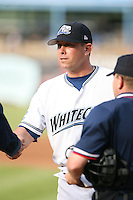 June 14th 2008:  Manager Joe DePastino of the West Michigan Whitecaps, Class-A affiliate of the Detroit Tigers, during a game at Fifth Third Ballpark in Comstock Park, MI.  Photo by:  Mike Janes/Four Seam Images