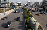 Cars drive along a road as the Lebanese government ordered a national lockdown, in a bid to slow the spread of the coronavirus, in Beirut, Lebanon, on January 7, 2021. Since the start of the Covid-19 pandemic, Lebanon has recorded nearly 200,000 cases including 1,537 deaths, according to health ministry figures. Health professionals have warned that the latest surge in cases risked causing catastrophe across Lebanon, which is already suffering from the aftermath of a devastating August explosion in Beirut and a dire economic crisis. Photo by Marwan Bou Haidar