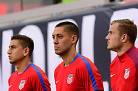 Harrison, NJ - Friday Sept. 01, 2017: Clint Dempsey prior to a 2017 FIFA World Cup Qualifier between the United States (USA) and Costa Rica (CRC) at Red Bull Arena.