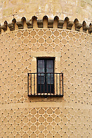 Round tower detail and window, Alcazar, Segovia, Spain
