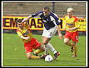 26/04/2003                   Copyright Pic : James Stewart.File Name : stewart-falkirk v ayr 14.SCOTT CHAPLAIN FEELS THE FULL FORCE OF DAVIE NICHOLS....James Stewart Photo Agency, 19 Carronlea Drive, Falkirk. FK2 8DN      Vat Reg No. 607 6932 25.Office     : +44 (0)1324 570906     .Mobile  : +44 (0)7721 416997.Fax         :  +44 (0)1324 570906.E-mail  :  jim@jspa.co.uk.If you require further information then contact Jim Stewart on any of the numbers above.........