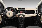Stock photo of straight dashboard view of 2016 Fiat Panda-4X4 Pop 5 Door Hatchback Dashboard