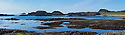 Coastline of Iona, Isle of Mull, Scotland, UK. Digitally stitched panorama.