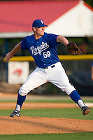 Jaeson Hudnall #59 of the Burlington Royals in action versus the Pulaski Mariners at Burlington Athletic Park August 4, 2009 in Burlington, North Carolina. (Photo by Brian Westerholt / Four Seam Images)