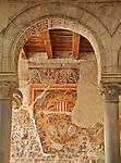 Renaissance frescoes in the Palazzo del Podesta in Bergamo, Italy