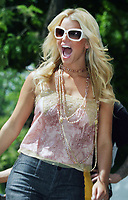 JESSICA SIMPSON HEADLINES ALLURE MAGAZINEíS PLAY IT SAFE IN THE SUN CONCERT IN CENTRAL PARK'S RUMSEY FIELD , NEW YORK CITY 05/22/2004<br /> Photo By John Barrett/PHOTOlink/MediaPunch