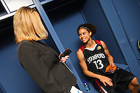 6 April 2008: Stanford Cardinal Cissy Pierce during Stanford's 82-73 win against the Connecticut Huskies in the 2008 NCAA Division I Women's Basketball Final Four semifinal game at the St. Pete Times Forum Arena in Tampa Bay, FL.