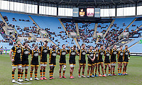 Photo: Richard Lane/Richard Lane Photography. Wasps v Ospreys. Anglo-Welsh Cup. 05/02/2017. Wasps minutes silence in memory of former player, Ted Woodward.