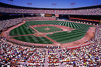 SAN FRANCISCO, CA - General overall stadium view of the home of the San Francisco Giants, Candlestick Park, during a game against the Los Angeles Dodgers in San Francisco, California in 1987. Photo by Brad Mangin